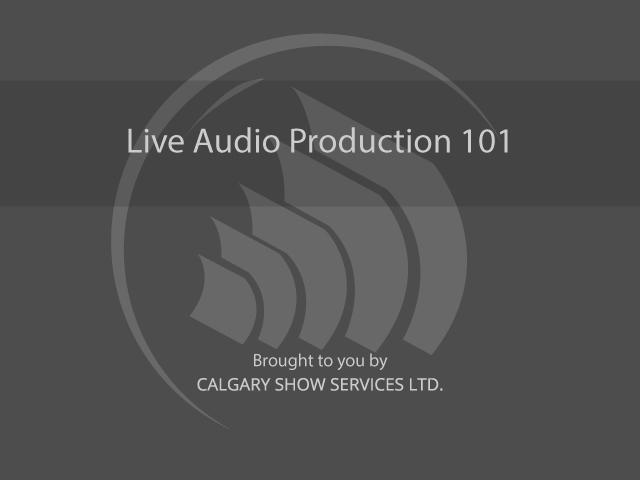 Live Audio Production Classes