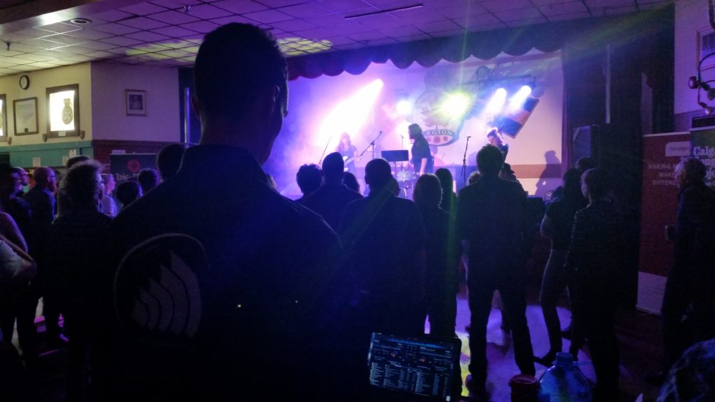 lighting production at the legion