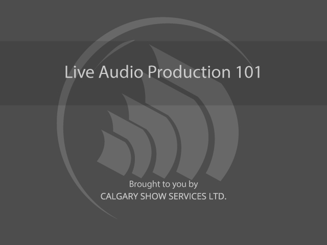 Live Audio Production Classes
